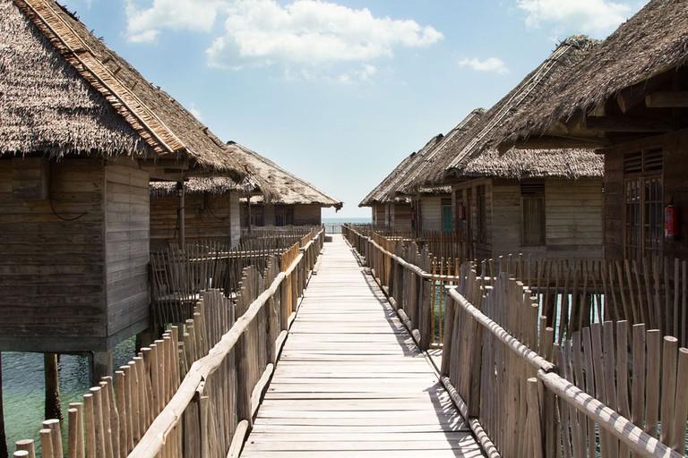 Telunas Beach Resort Wooden Walkway