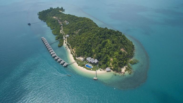Telunas Private Island Aerial