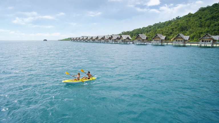 Telunas Private Island Kayaking