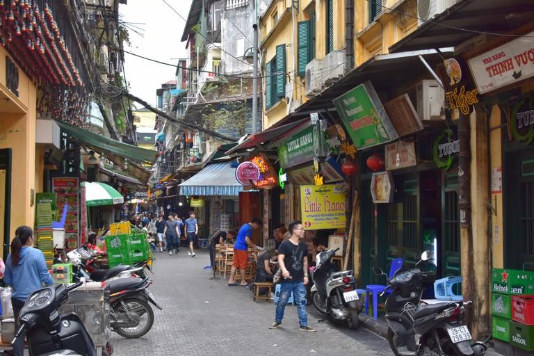 The narrow streets of Hanoi's Old Quarter
