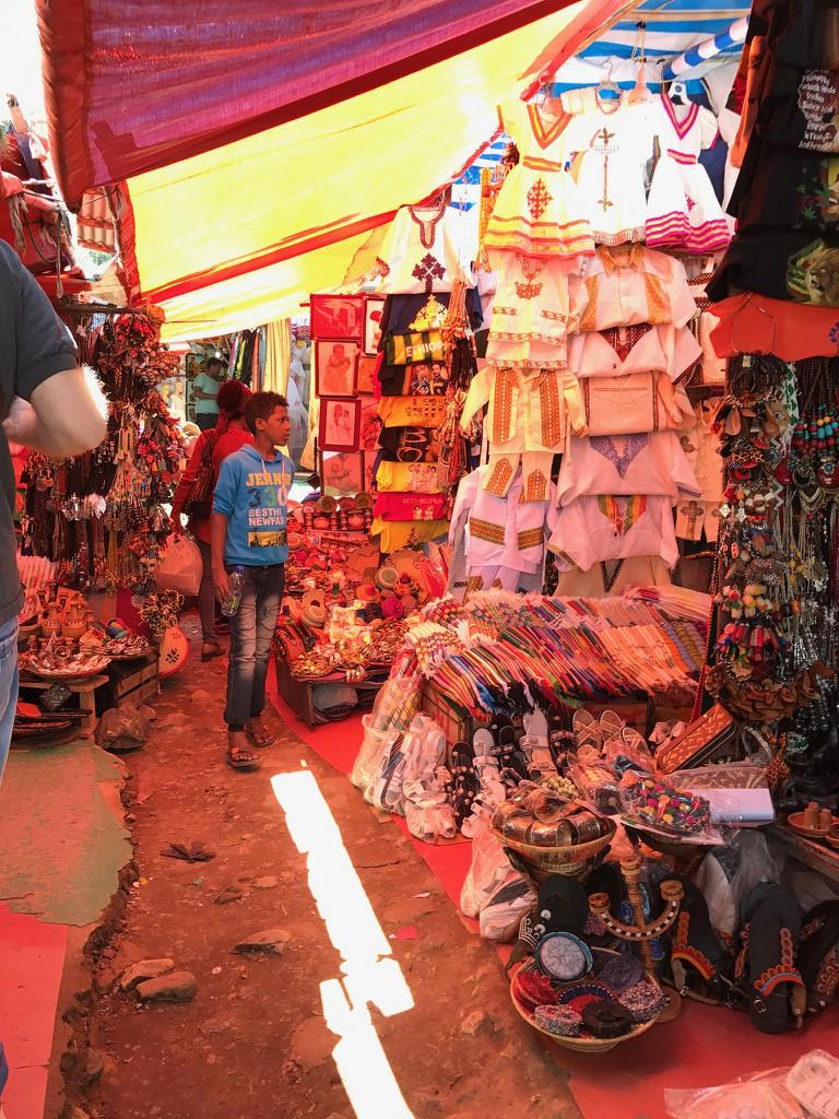 Shiro Meda market in Addis Ababa