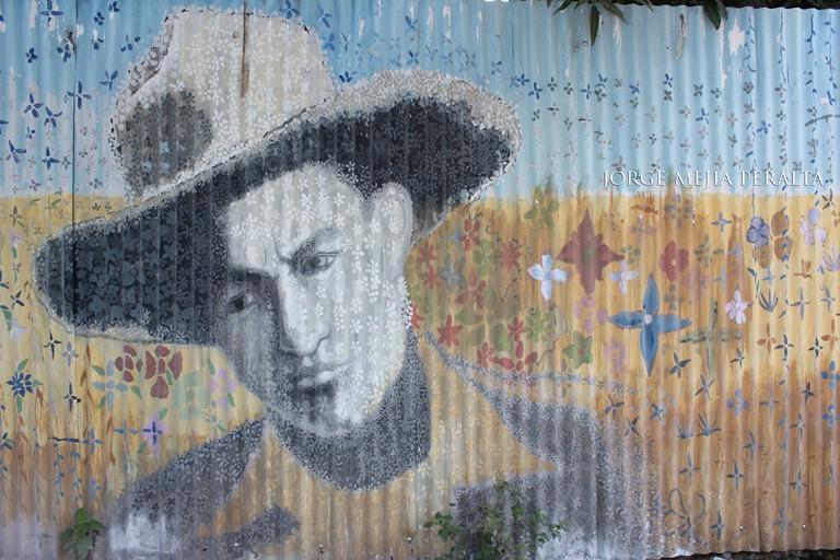 Sandino graffiti in Nicaragua
