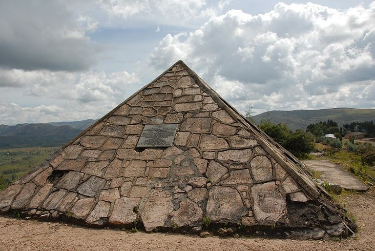 The pyramid at the source of the River Nile