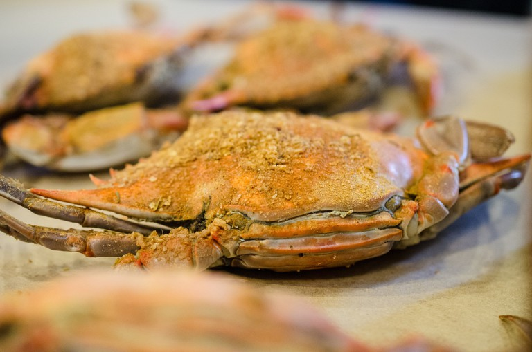 Steamed crabs, Baltimore, Maryland