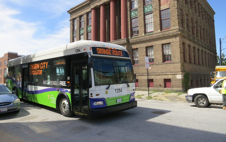 Charm City Circulator, Baltimore, Maryland, budget travel