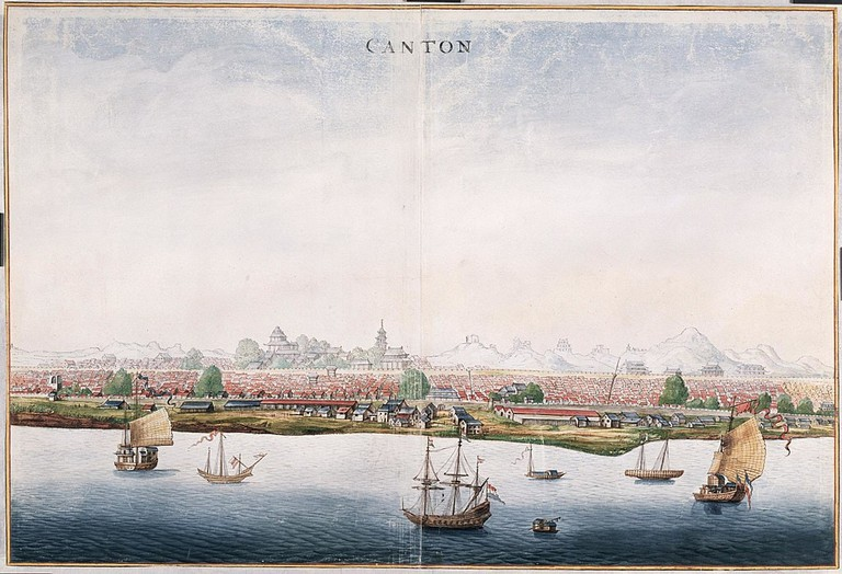 A View of Canton   Johannes Vingboons [public domain] : via WikiCommons