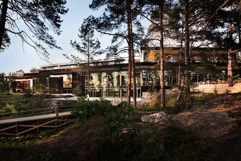 Artipelag is nestled among pine trees