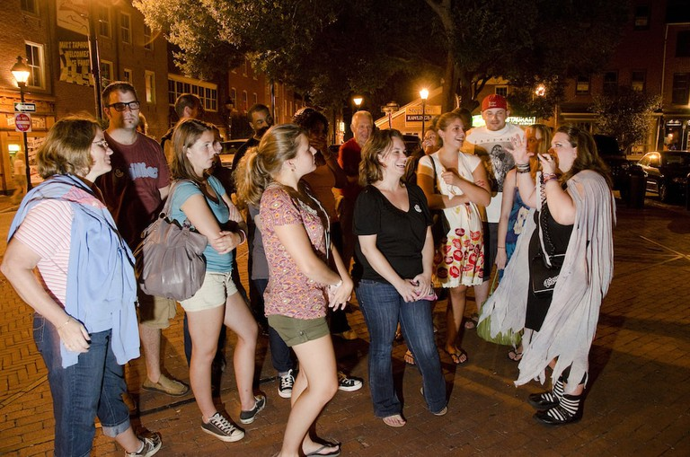 Haunted tour, Original Fell's Point Ghost Walk, Baltimore, Maryland, Night