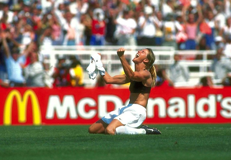 Women's World Cup Final, USA v China, The Rose Bowl, Pasadena, California, USA - 10 Jul 1999