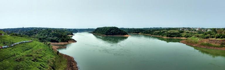 The Parana River between Argentina and Paraguay