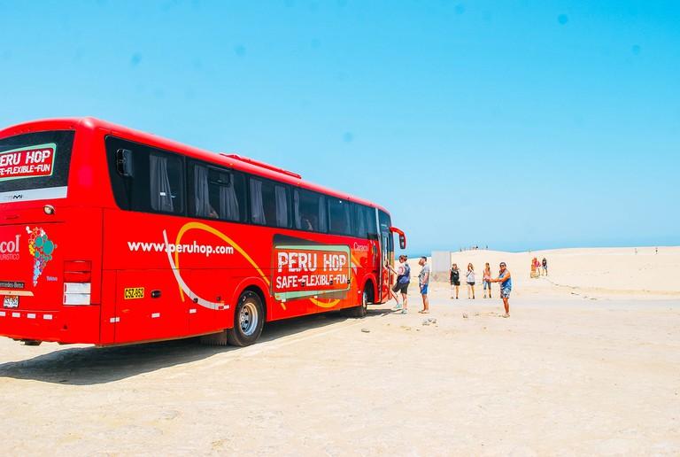 Bus travel Peru South America