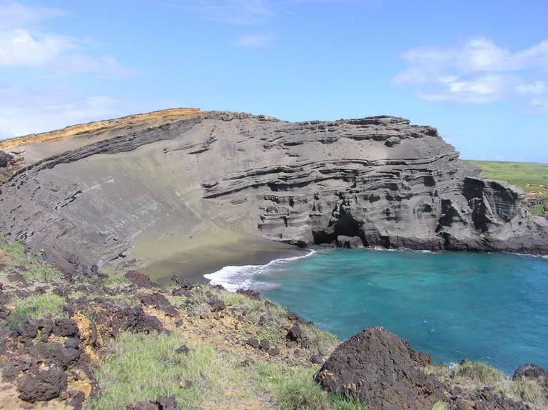 Green Sand Beach, South Point, Hawaii