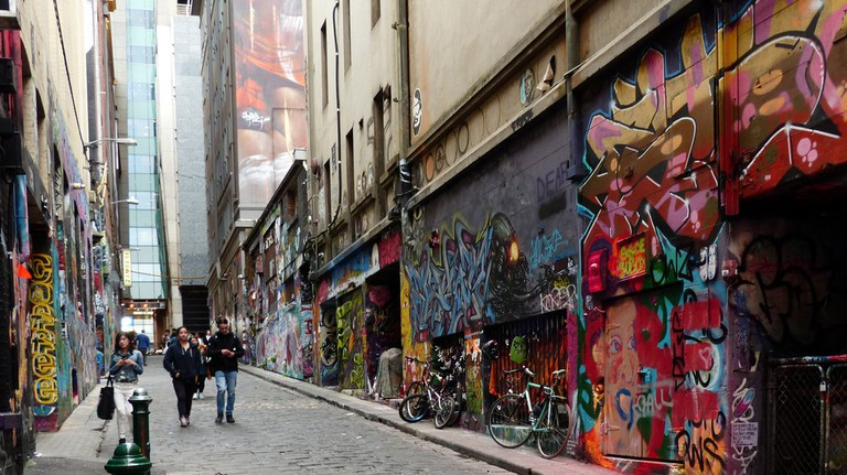 Hosier Lane, Melbourne © Bernard Spragg NZ Flickr