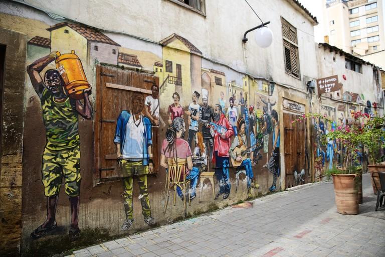 old nicosia street art paparazzi
