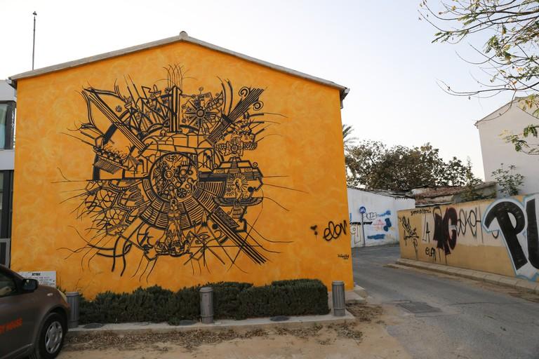 nicosia map street art