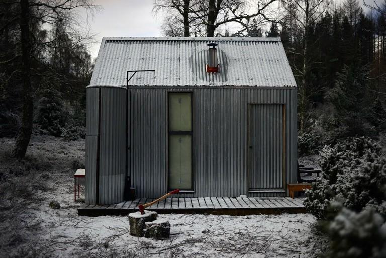 Inshriach Bothy exterior by Johnny Barrington