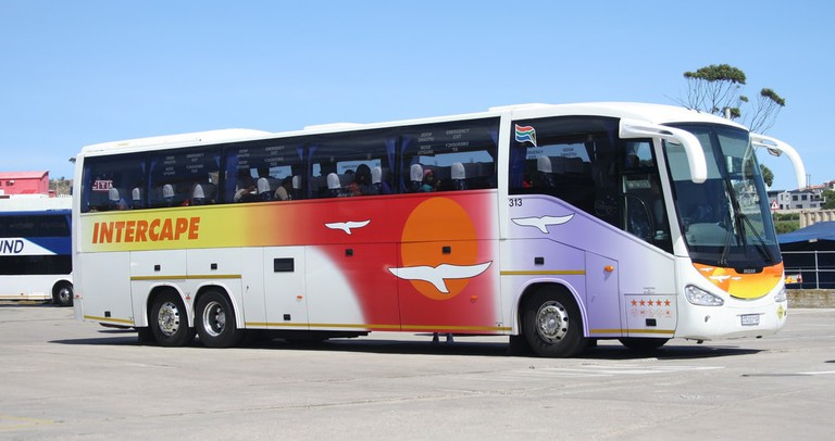 An Intercape bus is a safe mode of transport to major towns in Namibia