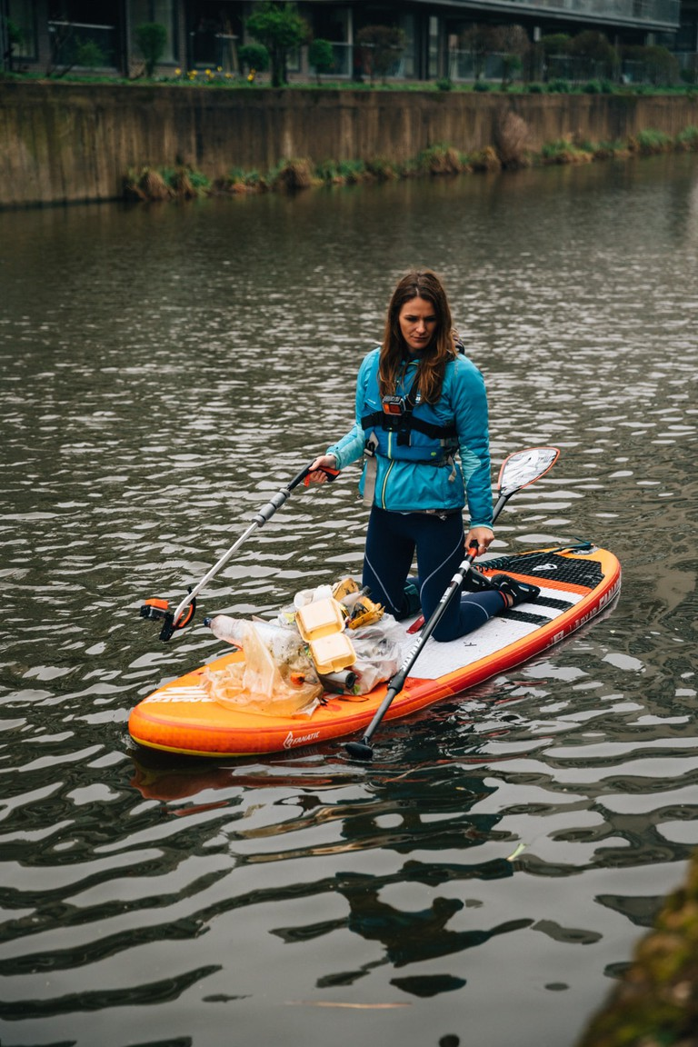 How Paddleboarding Can Clean Up London's Waterways