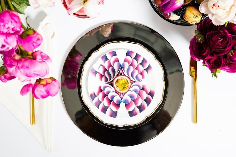 Judy Chicago_Elizabeth R Dessert Plate_Credit Alec Kugler