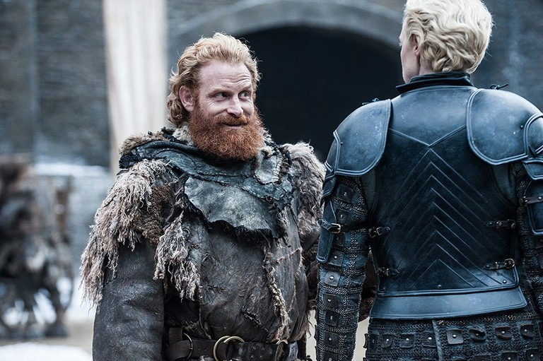 Kristofer Hivju and Gwendoline Christie in Game of Thrones, Photo by Helen Sloan - © 2017 - HBO