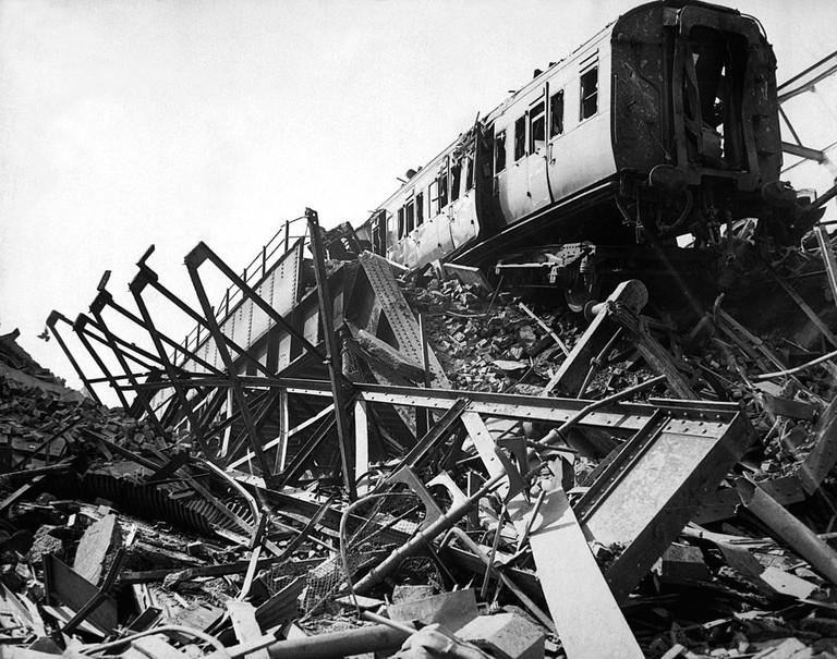 London Necropolis Railway damaged during the Blitz