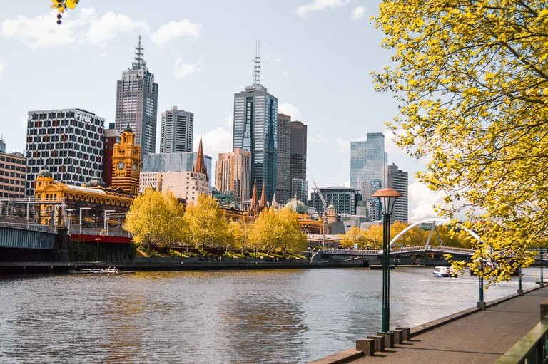 Yarra River flowing through Melbourne's CBD