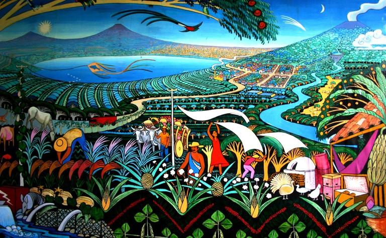 Nicaragua Volcanoes Lake Murals