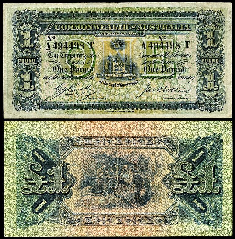 One Australian pound banknote from 1918 © Godot13 _ Wikimedia Commons