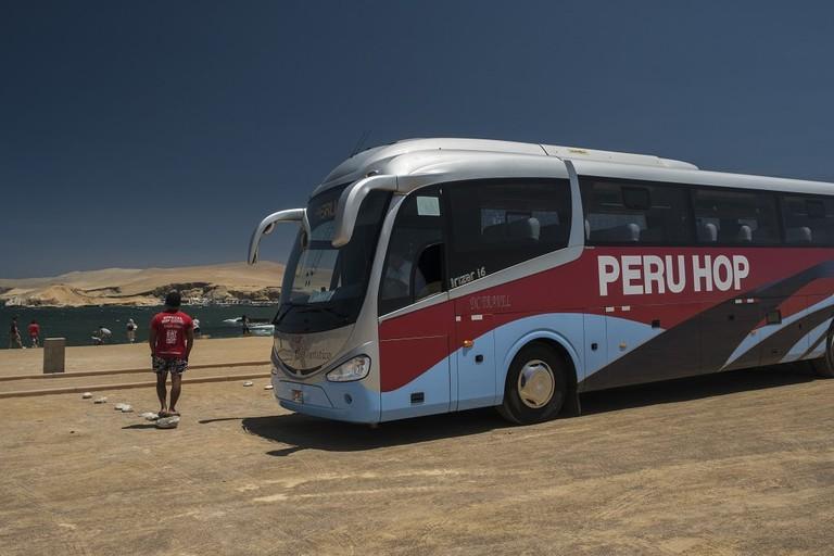 Peru Hop bus stop
