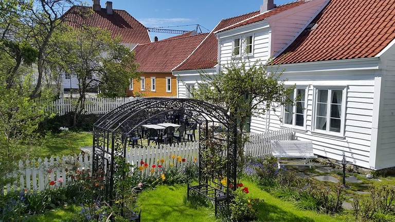 Picture perfect white houses at Skudeneshavn