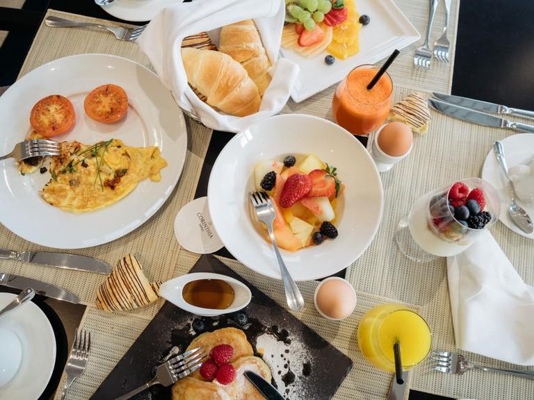 Corinthaq breakfast buffet