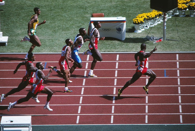Men's 100m Final Canada's Ben Johnson