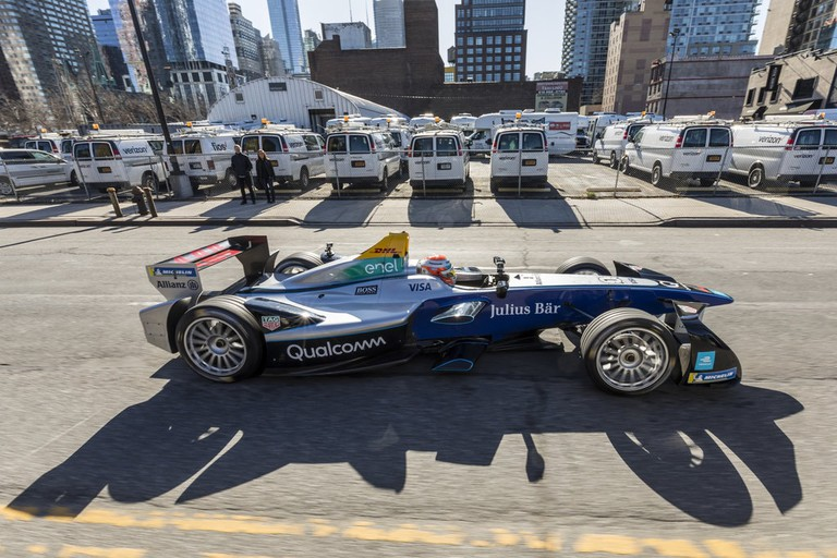 Formula E parade - 2018 NYC International Auto show