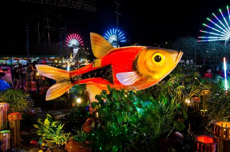 At Singburi Fish Festival