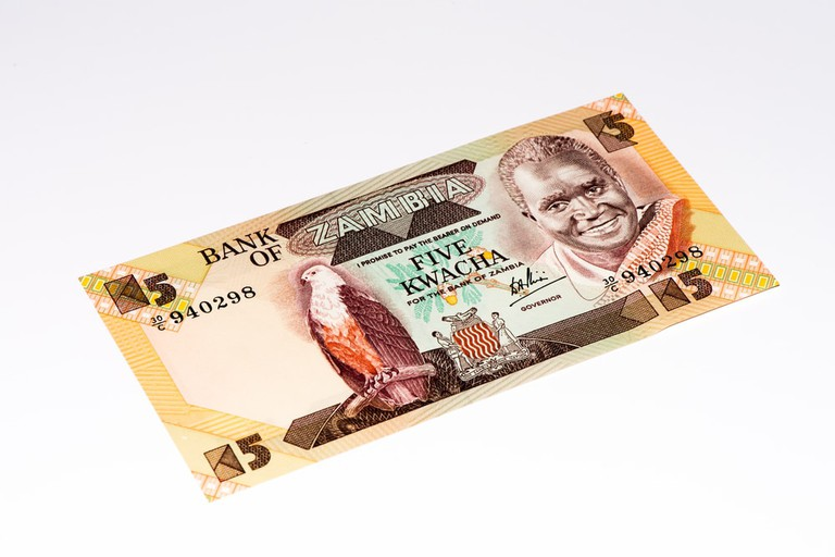 5 Zambian kwach bank note