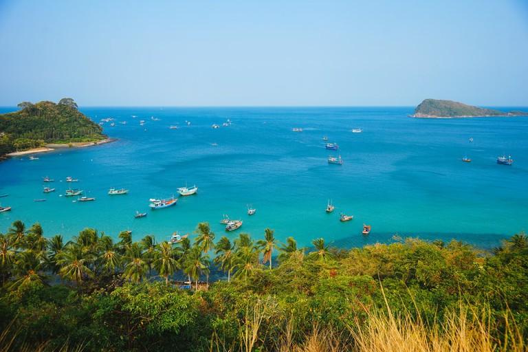 Beautiful beach in Nam Du island