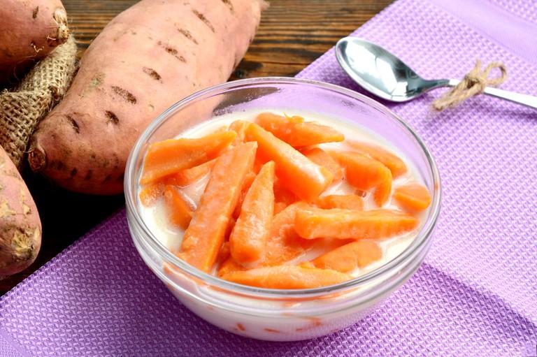 Sweet potato in coconut milk