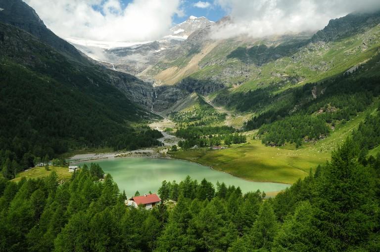 Switzerland Alps, Bernina Express Red Train