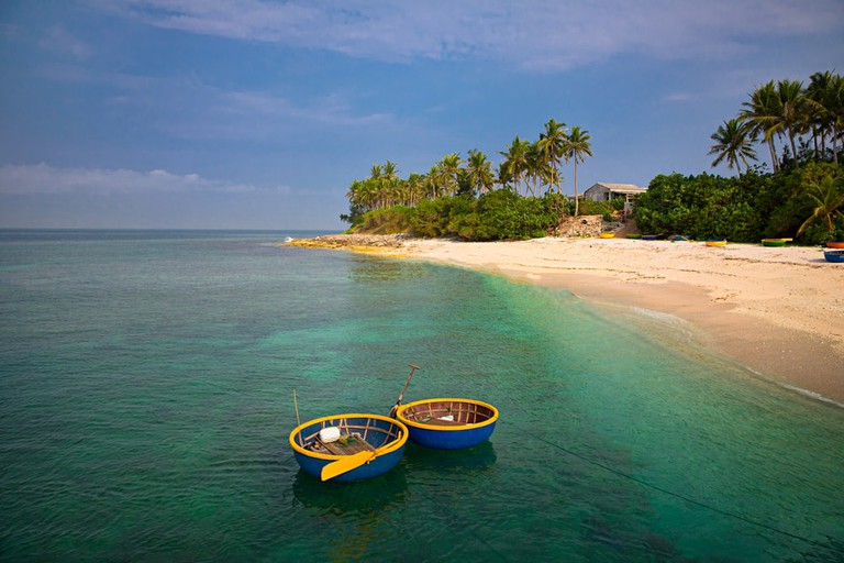 Beach on small island in Ly Son, Quang Ngai, Vietnam