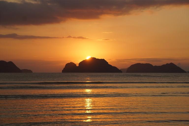 Sunset in El Nido, Palawan, Philippines