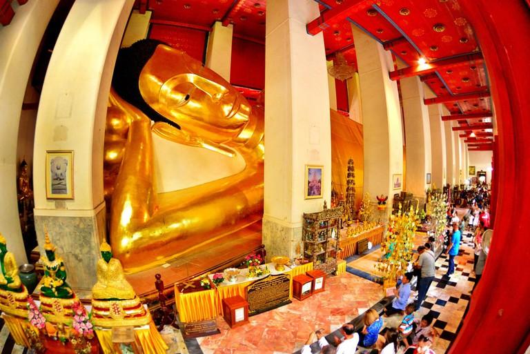 Phra non chaksri Temple, Singburi, Thailand