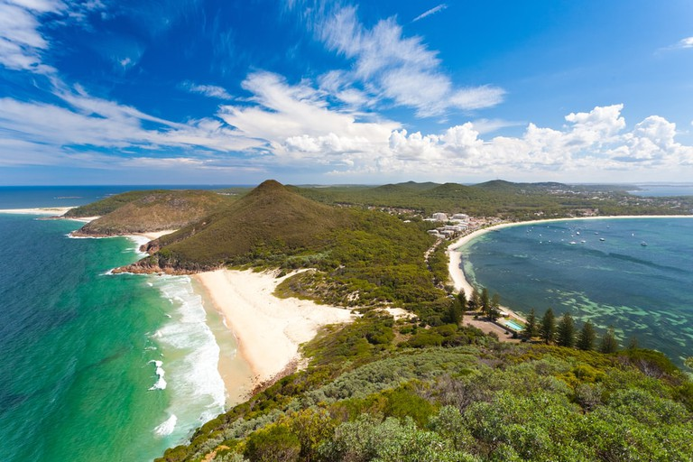 View from Tomaree Head Lookout, New South Wales, Australia