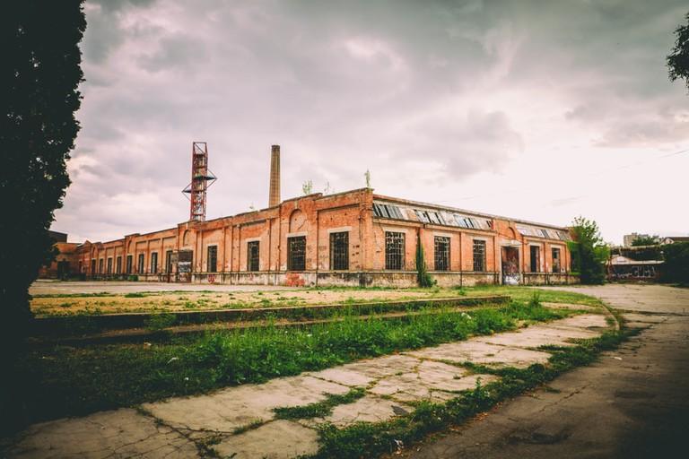 Stara Livnica, old Abandoned factory Knezev Prince's Arsenal in Kragujevac, Serbia