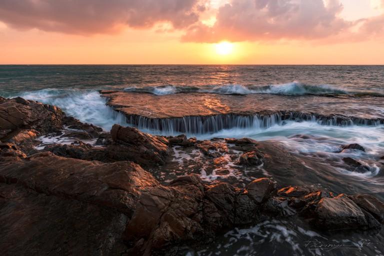 Seascape at Hang Rai Beach, Vietnam