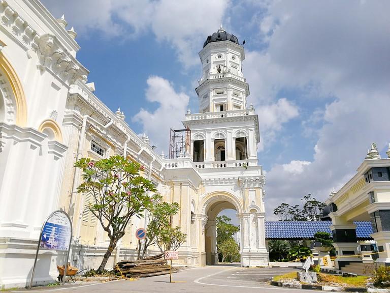 Sultan Abu Bakar State Mosque Building in Johor Bahru, Malaysia
