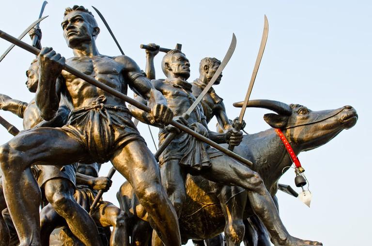 Bangrajun monument at Singburi province, Thailand