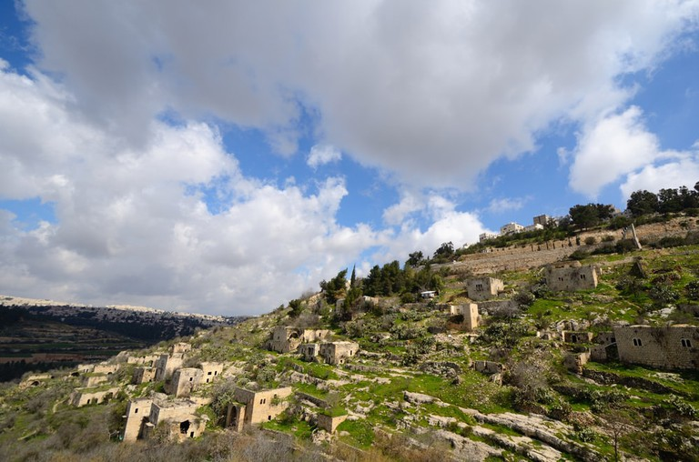 Lifta, a Jerusalem village which was abandoned by the Palestinians during the Israeli War of Independence