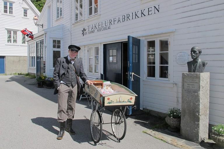 The fog horn factory at Historic Skudeneshavn