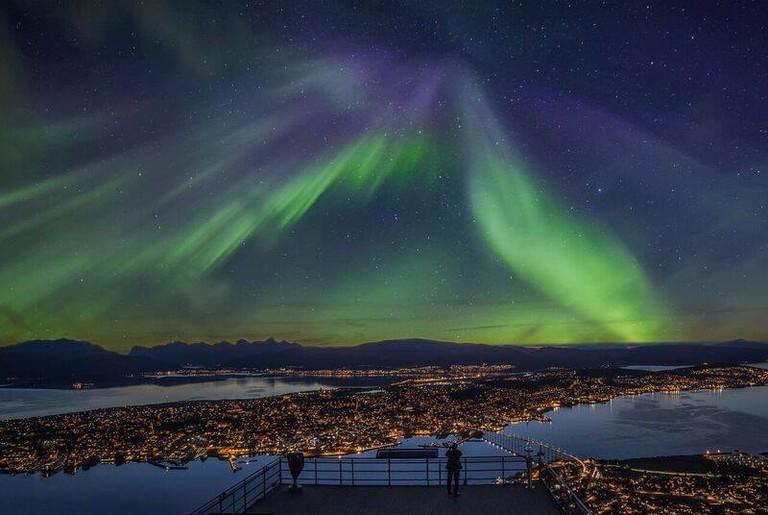 The Northern Lights over Tromsø, © Truls Tiller