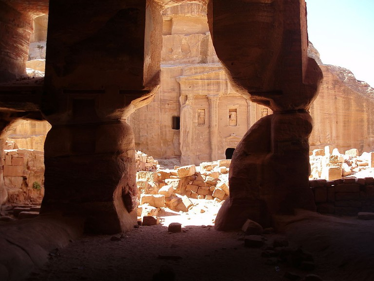 View_of_Roman_Soldier_Tomb_from_Garden_Triclinium,_Petra